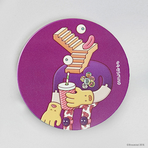 COZU|Brosmind 插畫陶瓷吸水杯墊-紫