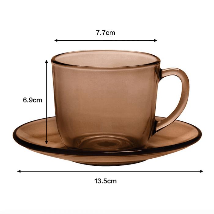 (複製)Duralex|法國強化玻璃馬克杯(180ml / 6入組 / 琥珀色)