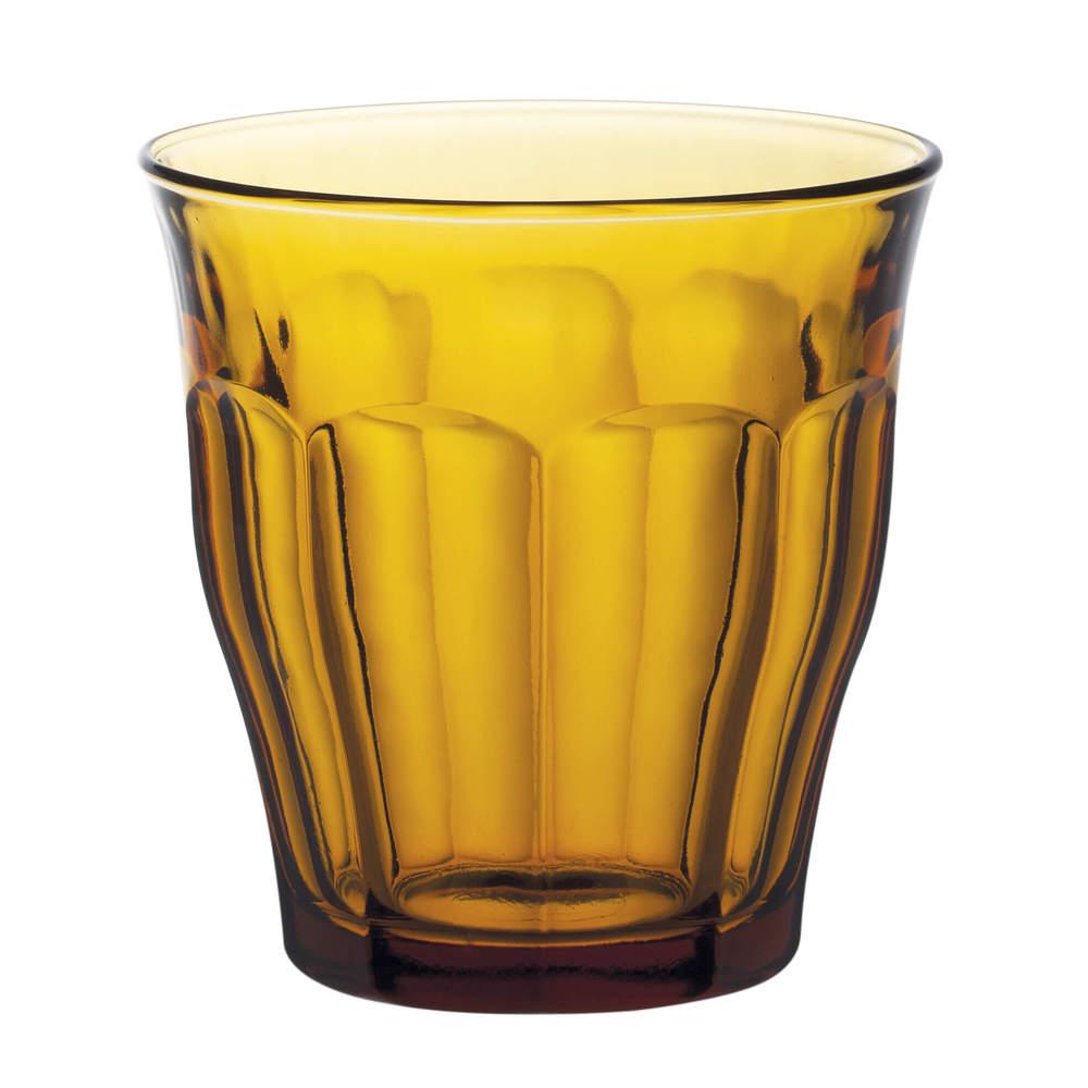 Duralex|法國強化玻璃杯Picardie(250ml / 6入組 / 琥珀色)