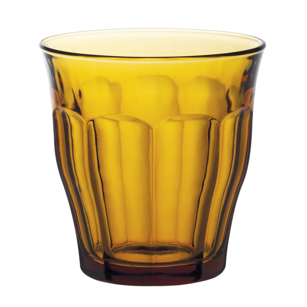 Duralex|法國強化玻璃杯Picardie(310ml / 6入組 / 琥珀色)