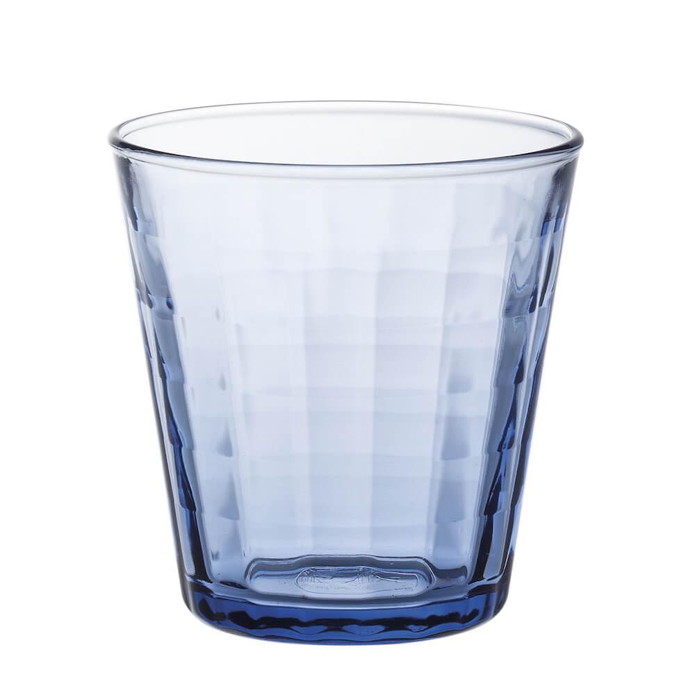 Duralex|法國強化玻璃杯Prisme(220ml / 4入組 / 海水藍)