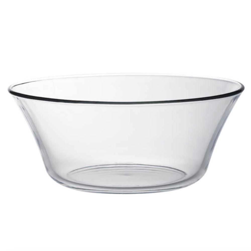 Duralex|法國強化玻璃沙拉盆Lys(2200ml / 2入組 / 透明)