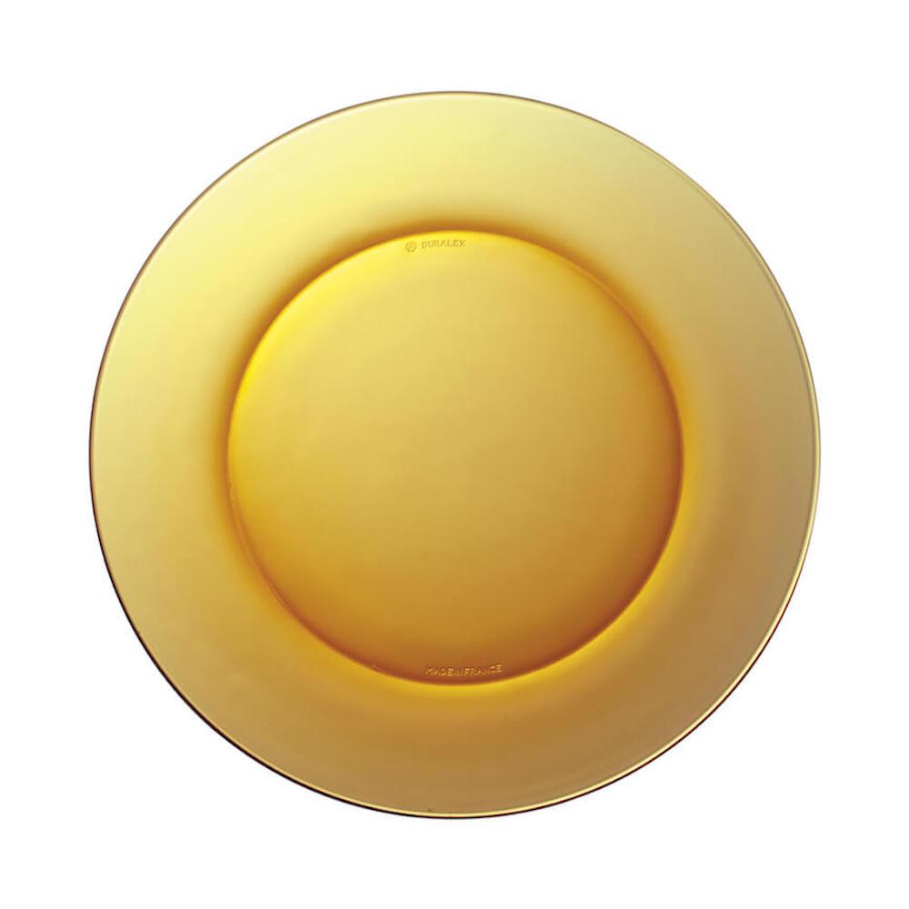 Duralex|法國強化玻璃淺盤Lys(19cm / 2入組 / 琥珀色)