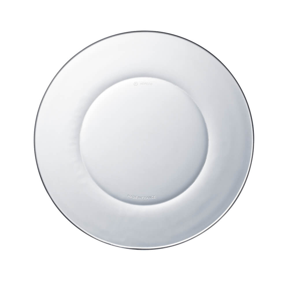 Duralex|法國強化玻璃淺盤Lys(23.5cm / 2入組 / 透明)