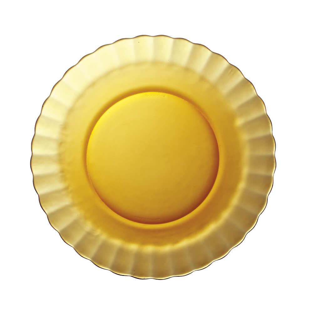 Duralex|法國強化玻璃荷葉湯盤Paris(23cm / 2入組 / 琥珀色)