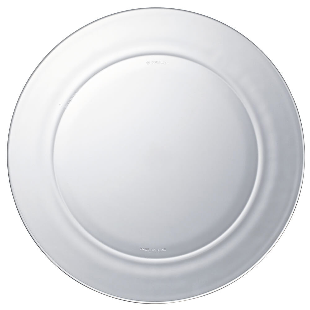 Duralex 法國強化玻璃大圓盤Lys(28cm / 2入組 / 透明)