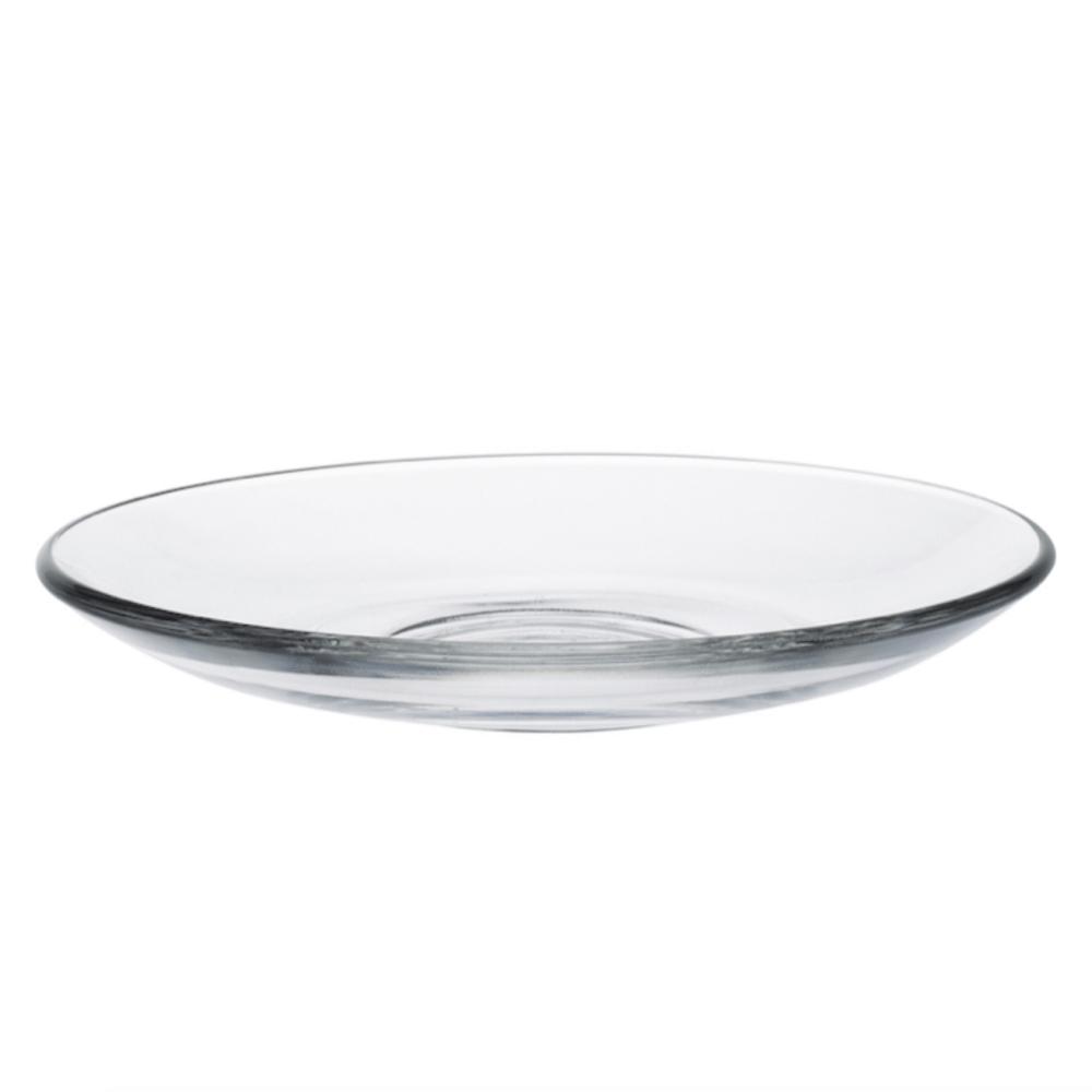 Duralex|法國強化玻璃茶托/小碟子Gigogne(13.5cm / 6入組 / 透明)