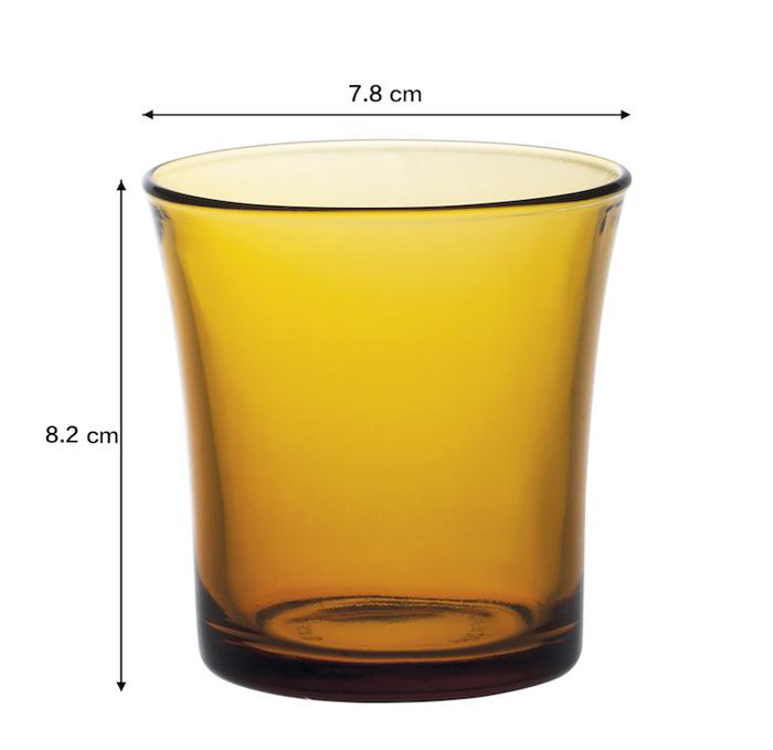 (複製)Duralex|法國強化玻璃杯Lys(160ml / 4入組 / 琥珀色)