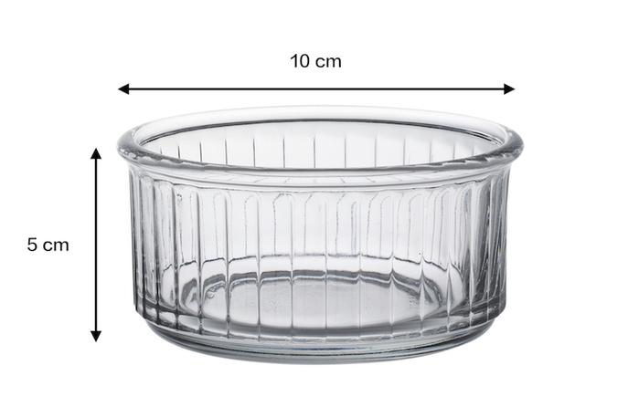 Duralex|法國強化玻璃甜點盅RAMEKIN(240ml / 4入組 / 透明)