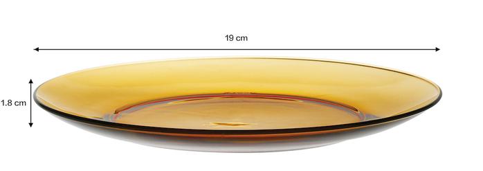 (複製)Duralex|法國強化玻璃淺盤Lys(23.5cm / 2入組 / 琥珀色)