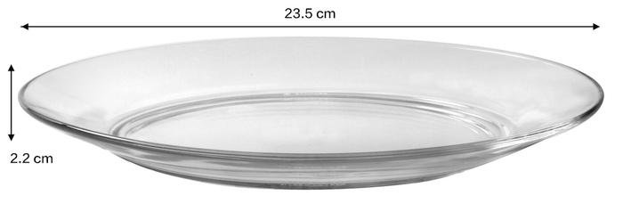 (複製)Duralex|法國強化玻璃淺盤Lys(19cm / 2入組 / 琥珀色)
