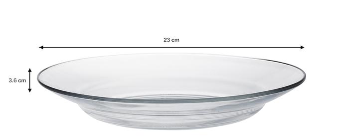 (複製)Duralex|法國強化玻璃淺盤Lys(23.5cm / 2入組 / 透明)