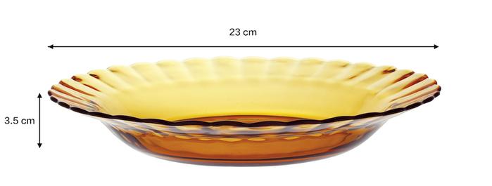 (複製)Duralex|法國強化玻璃荷葉湯盤Paris(23cm / 2入組 / 透明)