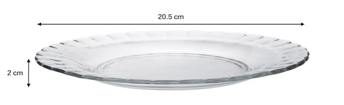 (複製)Duralex|法國強化玻璃荷葉淺盤Paris(23cm / 2入組 / 透明)