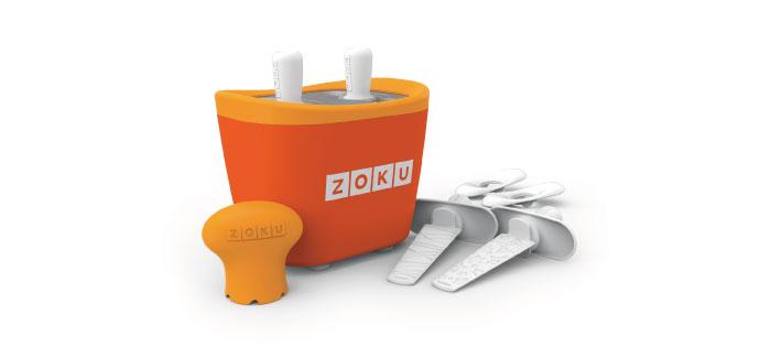 ZOKU|快速製冰棒機(兩支裝) - 橘色