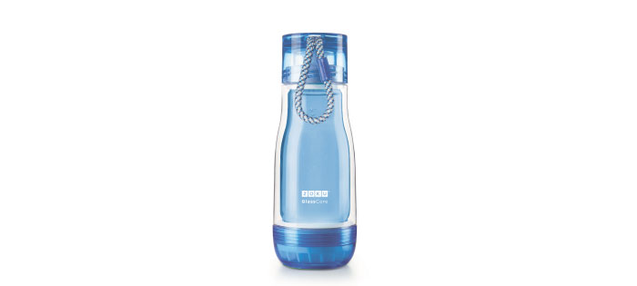 ZOKU|繽紛玻璃雙層隨身瓶(355ml) - 藍色