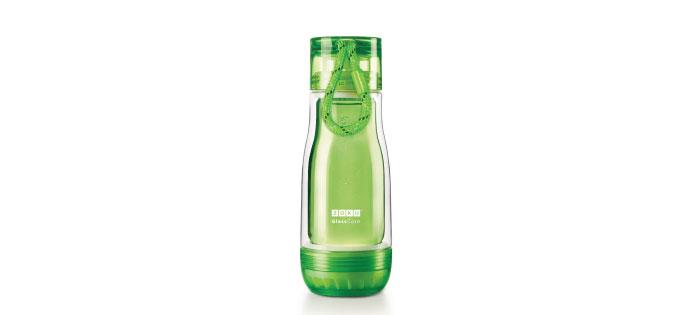 ZOKU|繽紛玻璃雙層隨身瓶(355ml) - 綠色