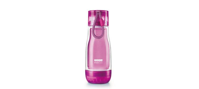 ZOKU|繽紛玻璃雙層隨身瓶(355ml) - 紫色
