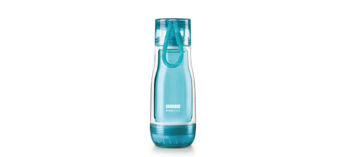 ZOKU|繽紛玻璃雙層隨身瓶(355ml) - 淺藍色