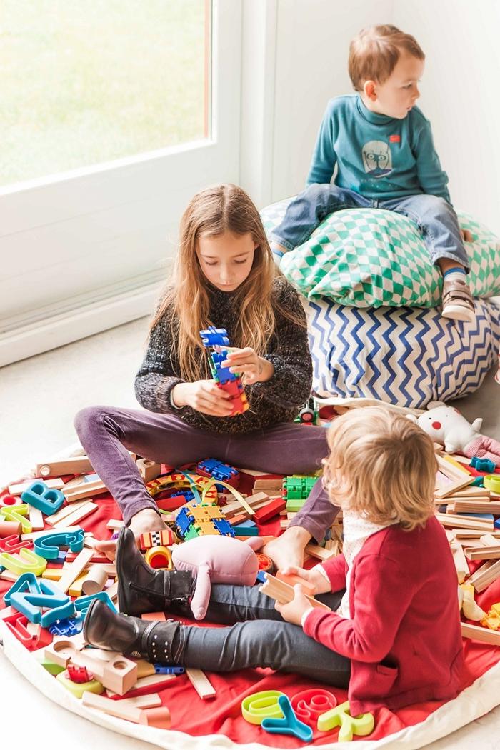 Play & Go 玩具整理袋 - 菱格綠