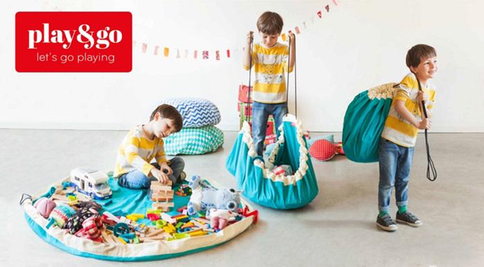 Play & Go 玩具整理袋 - 菱格粉