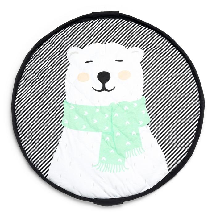 Play & Go|玩具整理袋-幸福北極熊 (柔棉系列)