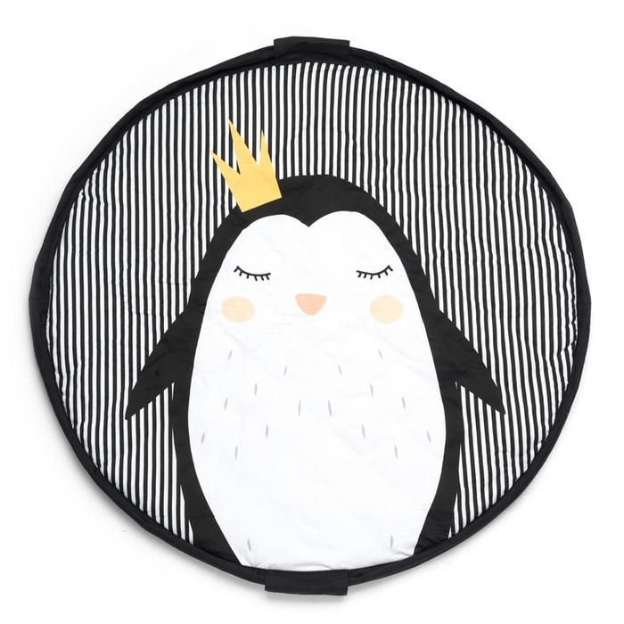 Play & Go|玩具整理袋-皇冠企鵝 (柔棉系列)