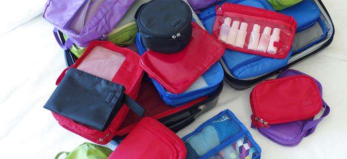 Lapoché|圓筒整理袋-紅