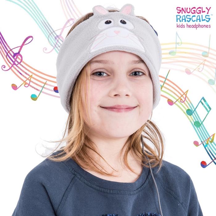Snuggly Rascals 趣味造型耳機-小灰兔