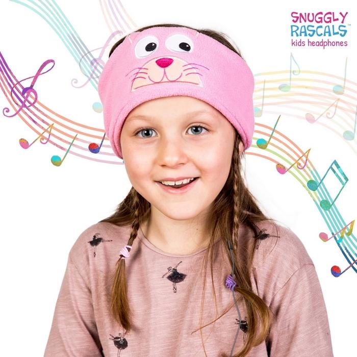 Snuggly Rascals 趣味造型耳機-可愛貓