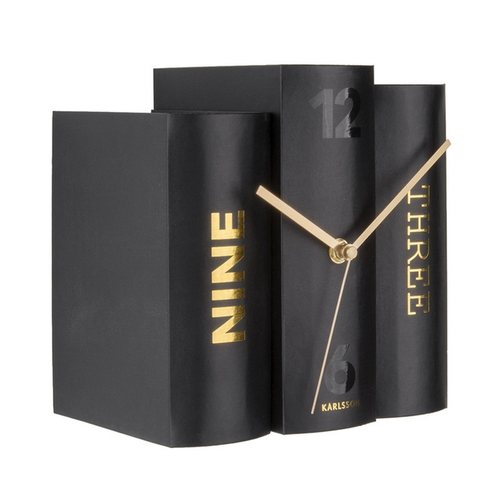 Present time|書本時鐘 (黑)