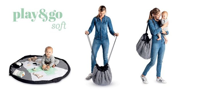 Play & Go|玩具整理袋-聯名款- Moulin Roty藍鯨 (柔棉系列)