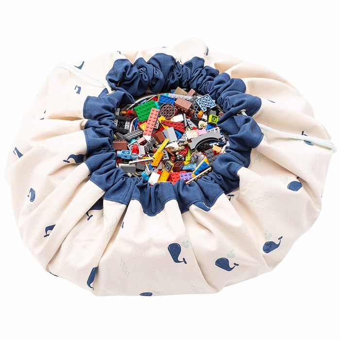 Play & Go|玩具整理袋-藍色鯨魚