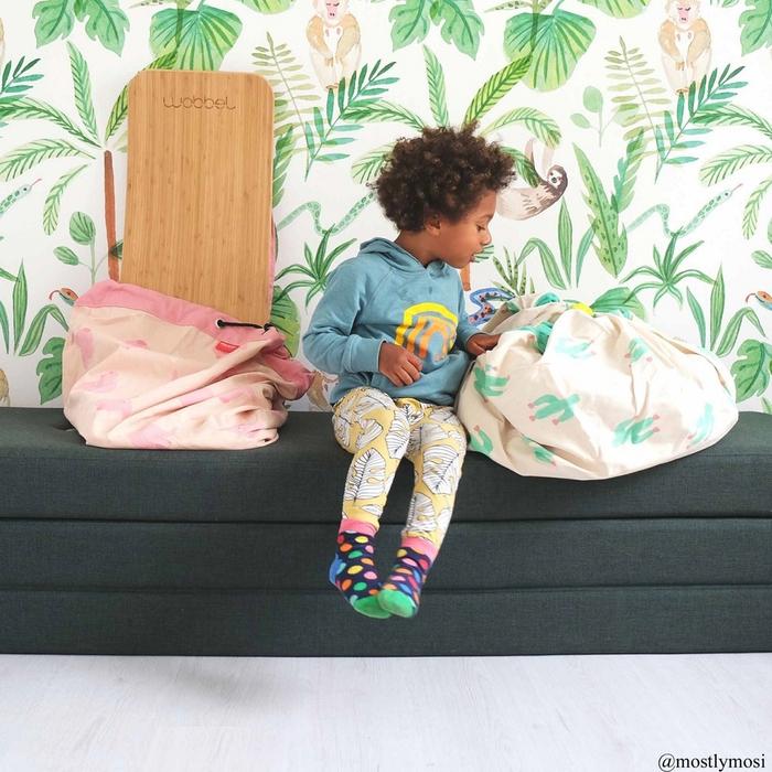 Play & Go|玩具整理袋-綠色仙人掌