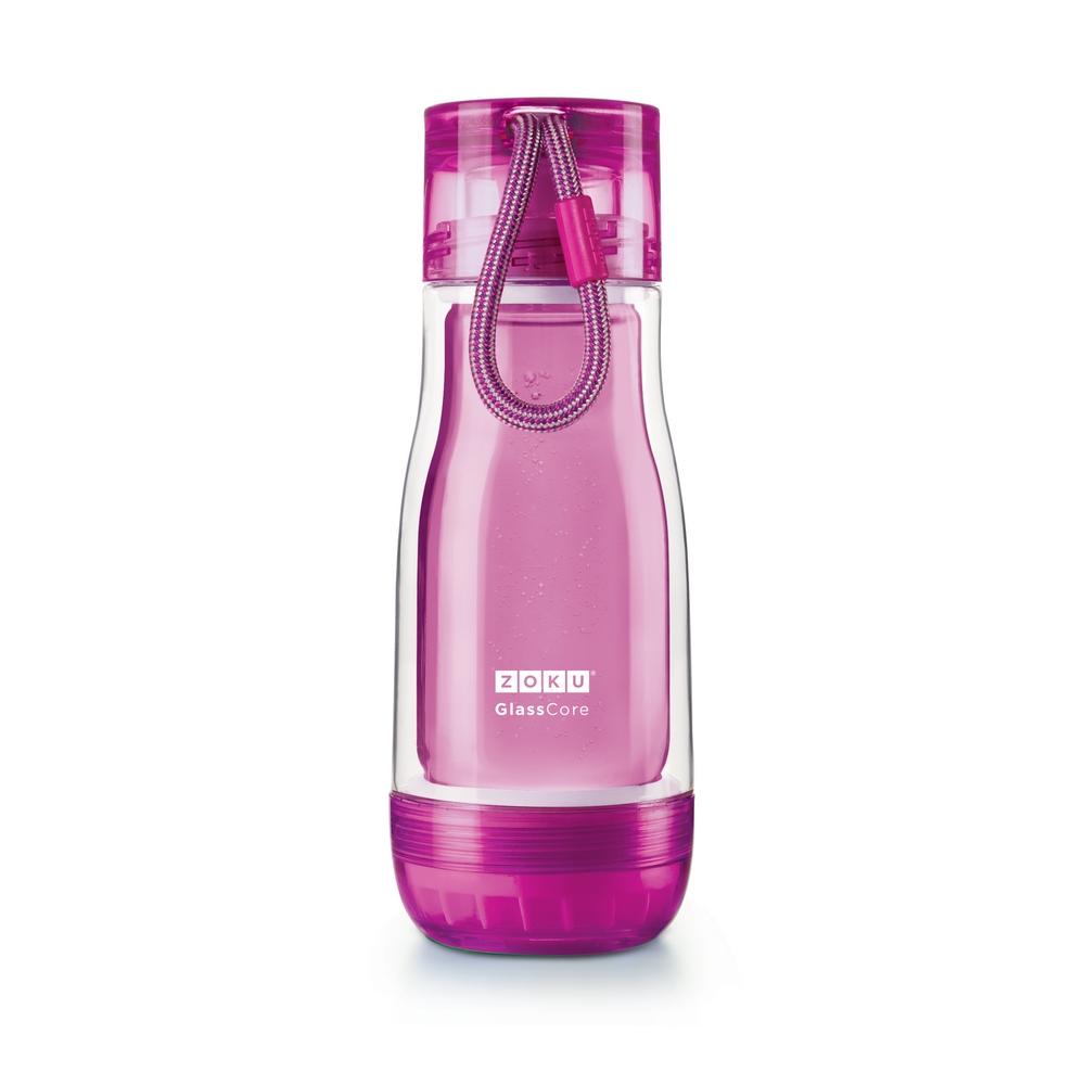 ZOKU 繽紛玻璃雙層隨身瓶(355ml) - 紫色