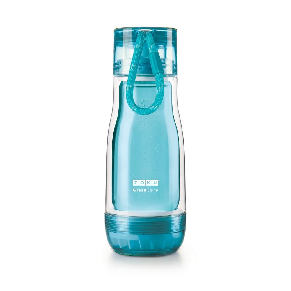 ZOKU 繽紛玻璃雙層隨身瓶(355ml) - 淺藍色