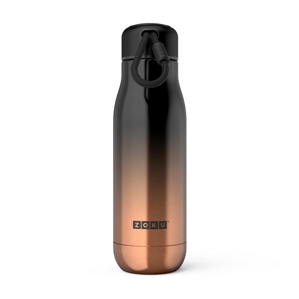 ZOKU|設計款真空不鏽鋼保溫瓶(500ml) - 漸層金