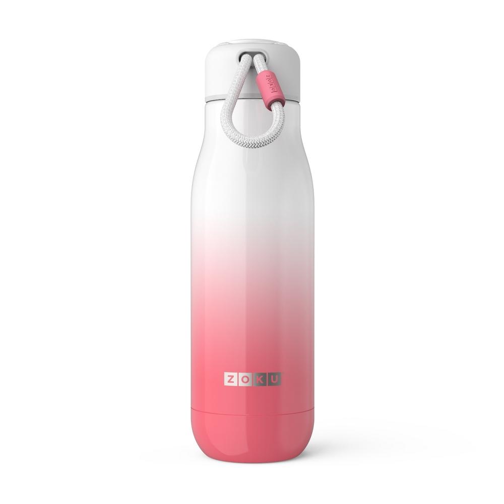 ZOKU|設計款真空不鏽鋼保溫瓶(500ml)  - 漸層粉