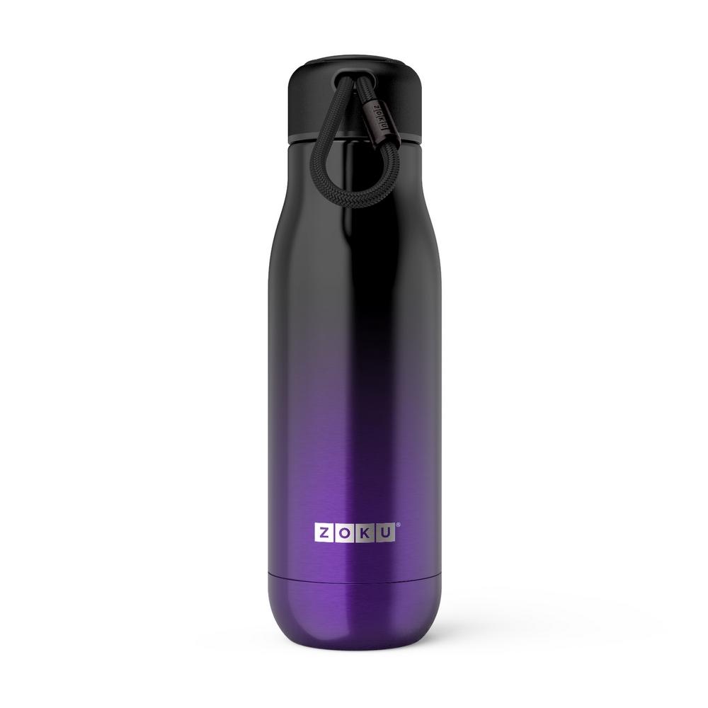 ZOKU|設計款真空不鏽鋼保溫瓶(500ml) -漸層紫