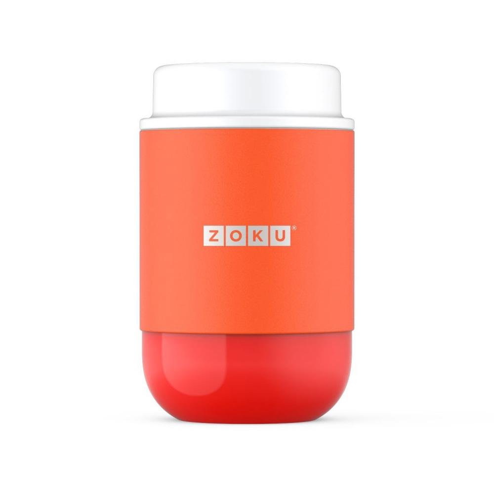 ZOKU 真空304不鏽鋼食物罐475ml-橘色