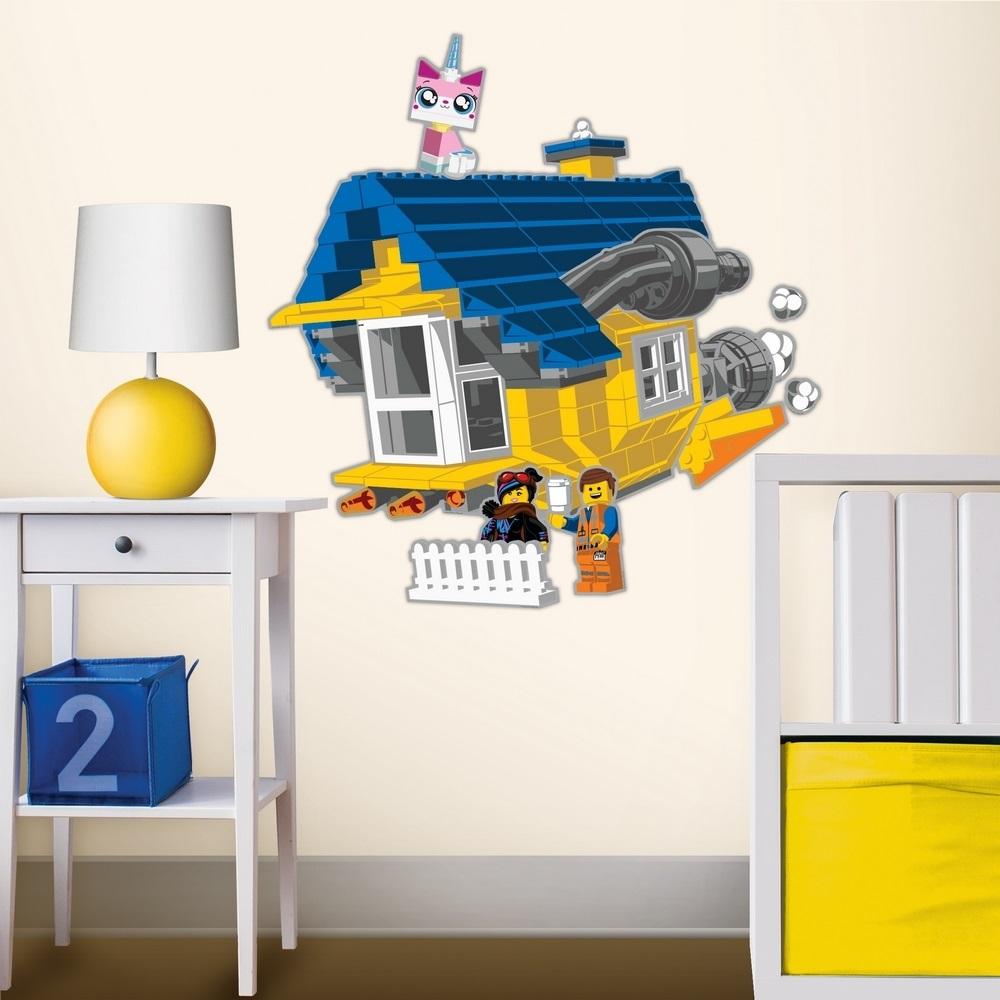 LEGO 拼圖靜電貼-艾密特的太空飛屋