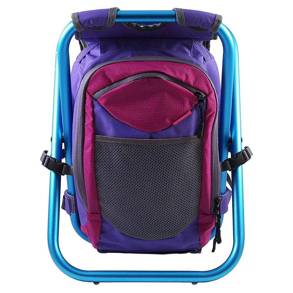 ispack|繽紛流行背包椅 - 亮紫/ 海藍