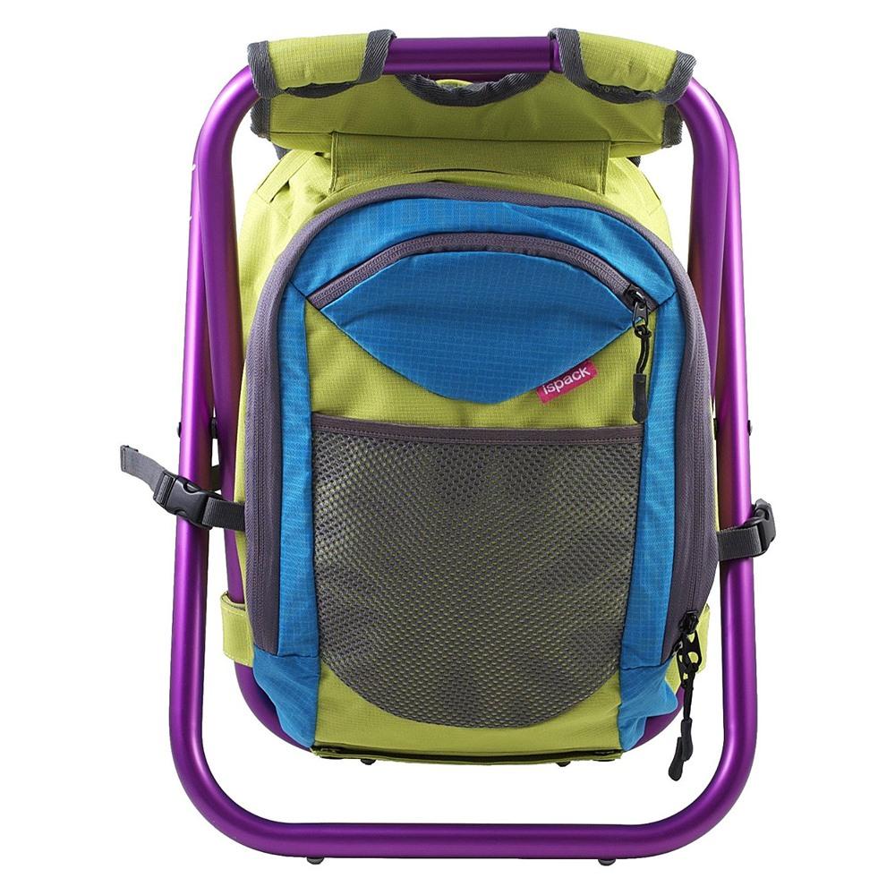 ispack 繽紛流行背包椅 - 萊姆/ 葡萄