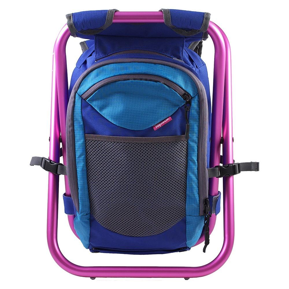 ispack|繽紛流行背包椅 - 湛藍/ 粉紅