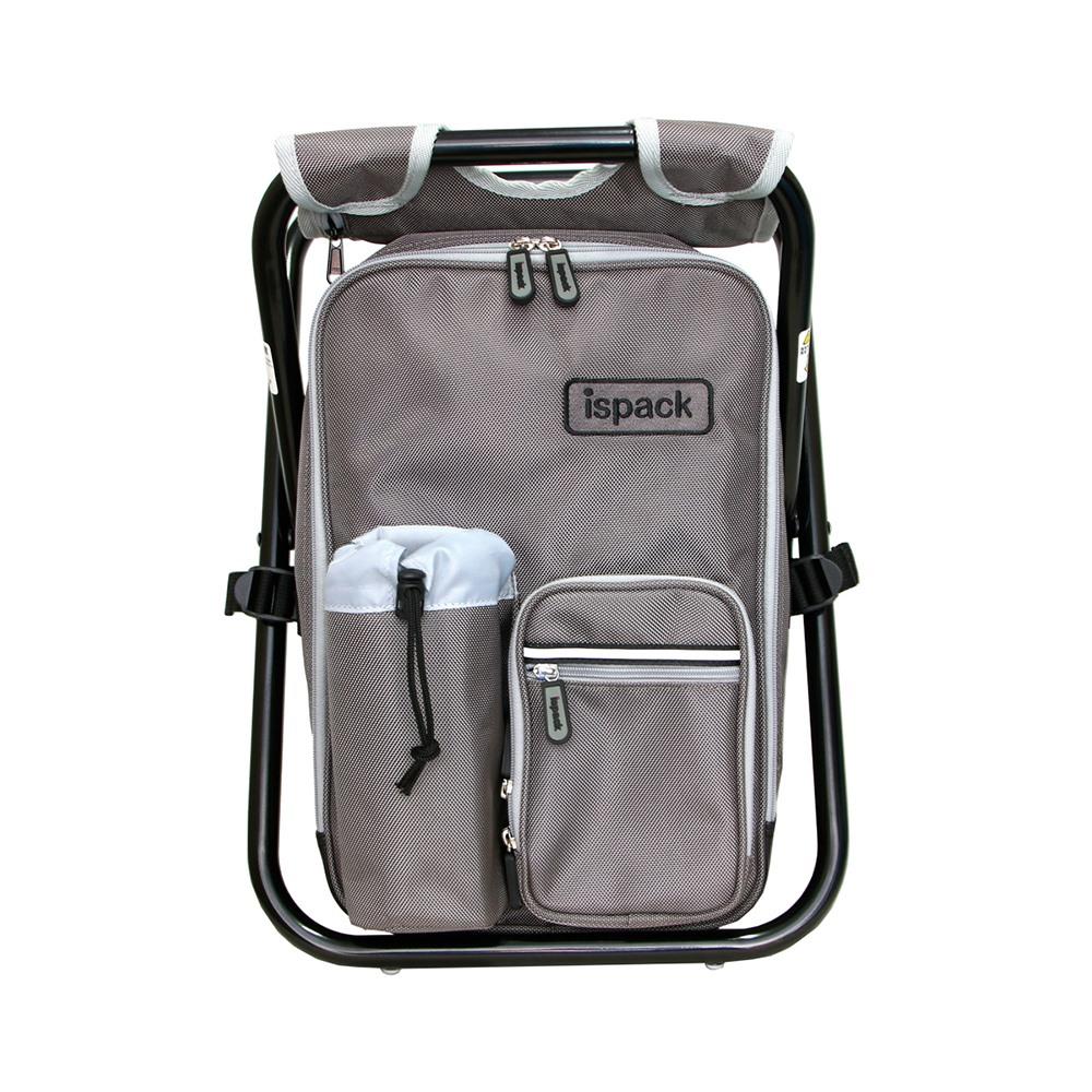 ispack|戶外機能背包椅 - 灰色