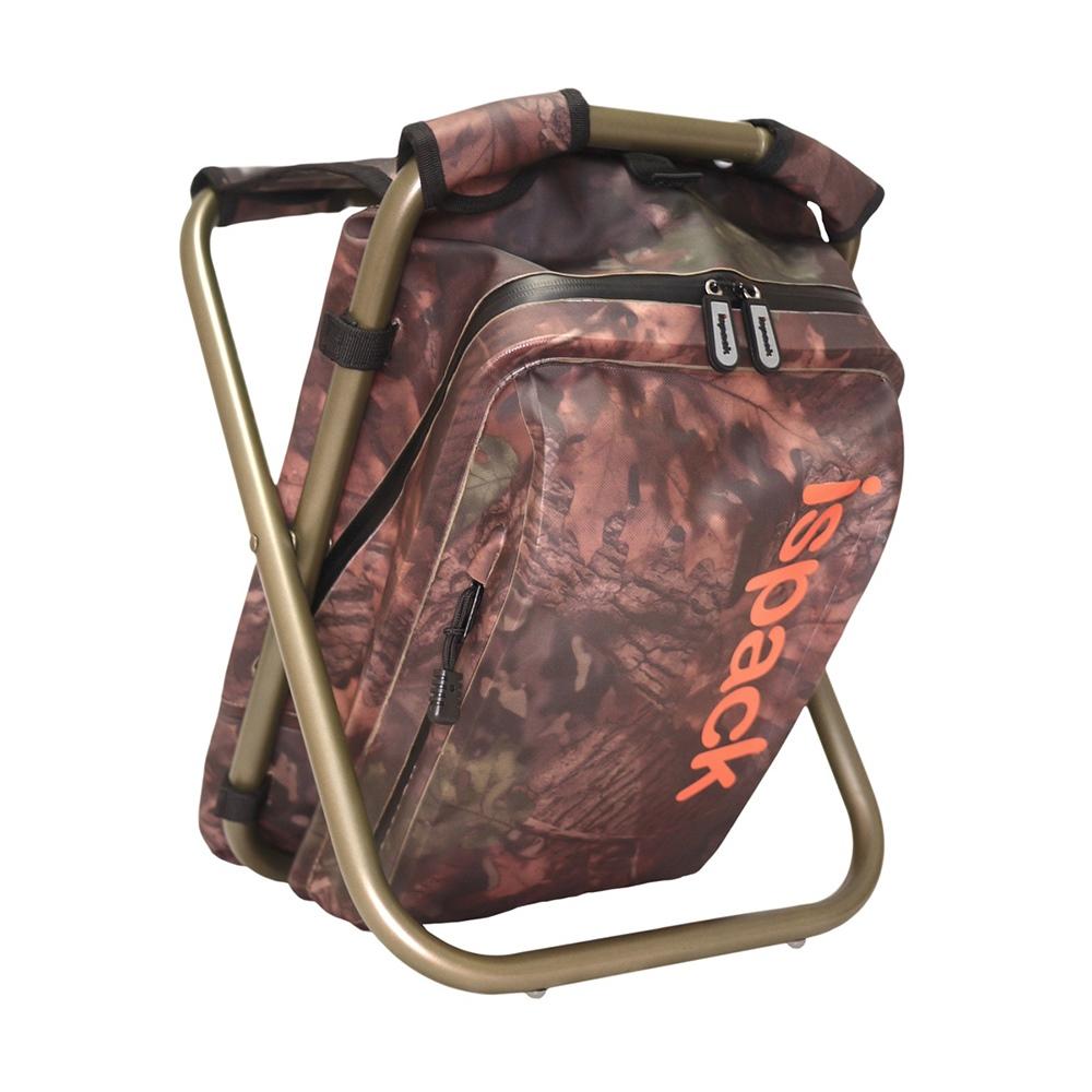 ispack|迷彩防水背包椅 - 棕綠
