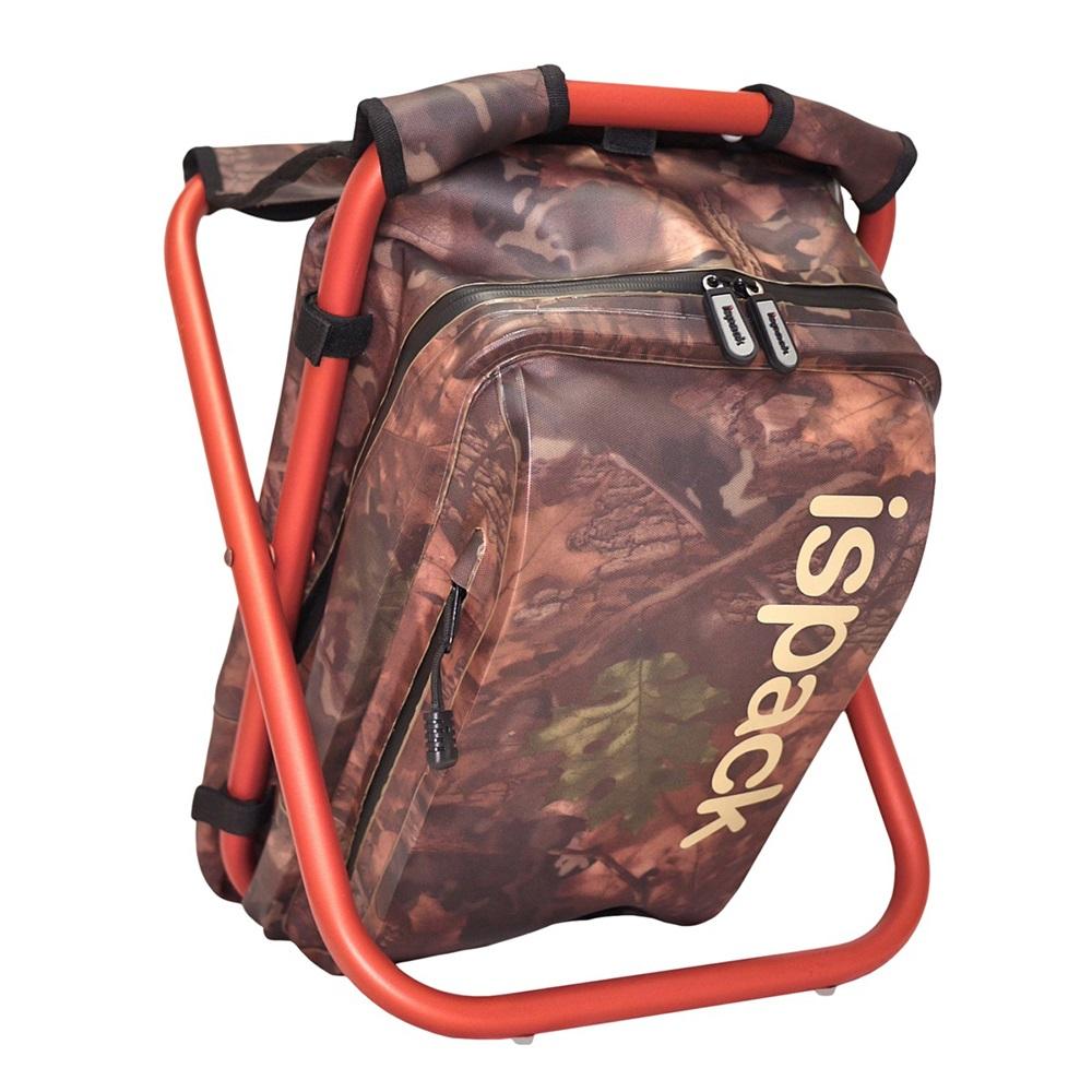 ispack 迷彩防水背包椅 - 紅棕