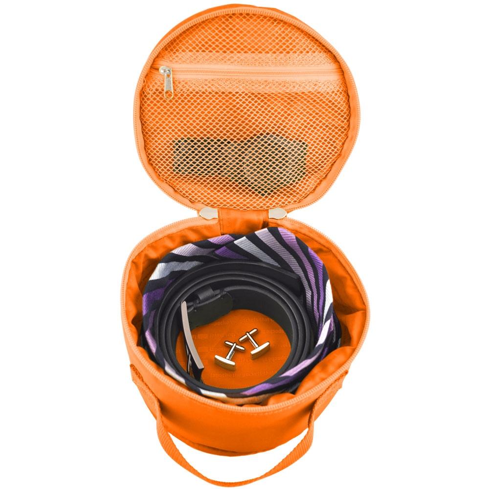 Lapoché|圓筒整理袋-橘