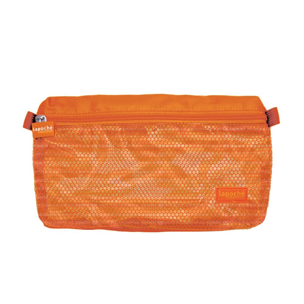 Lapoché|防潑水收納包(小)-橘色