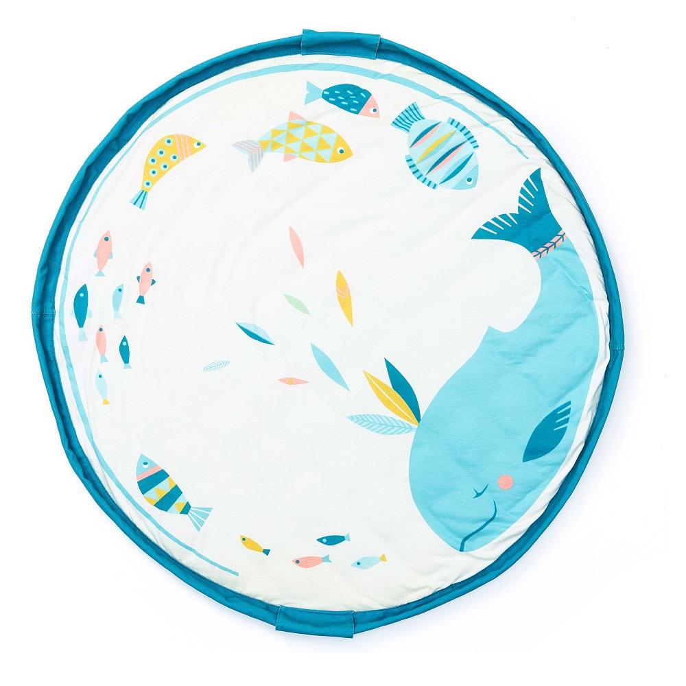 Play & Go 玩具整理袋-聯名款- Moulin Roty藍鯨 (柔棉系列)